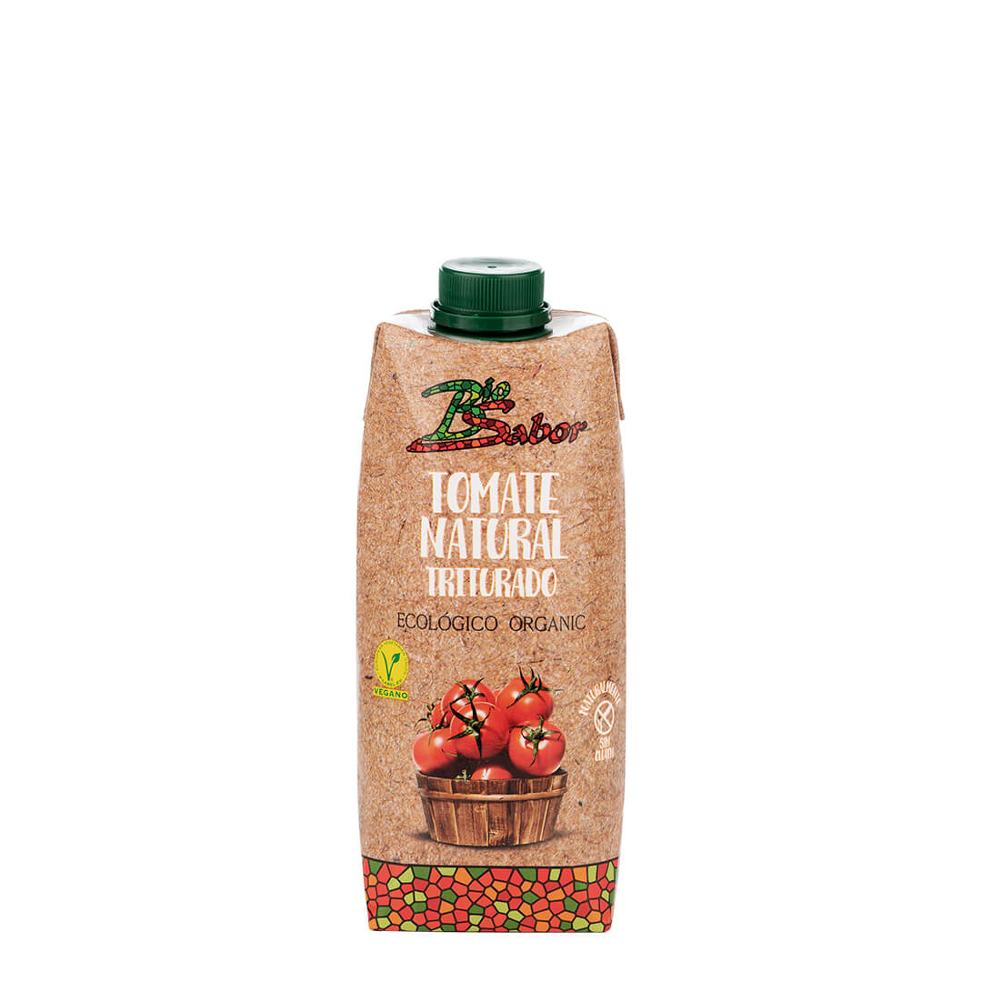 Gehackte Bio-Tomate